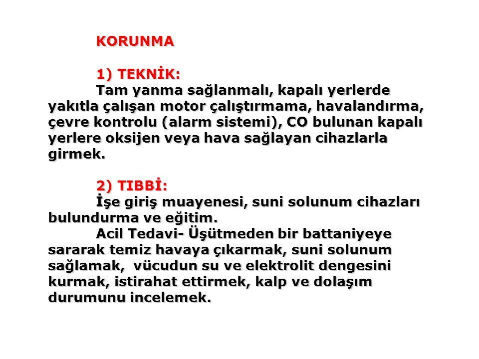 KORUNMA 1) TEKNİK:
