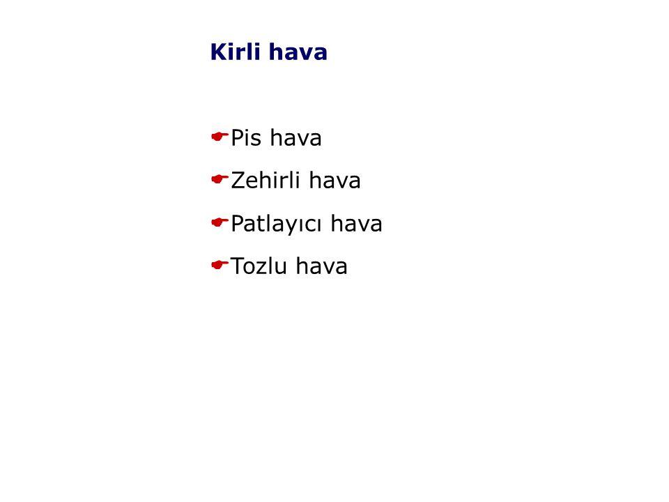Kirli hava Pis hava Zehirli hava Patlayıcı hava Tozlu hava 9