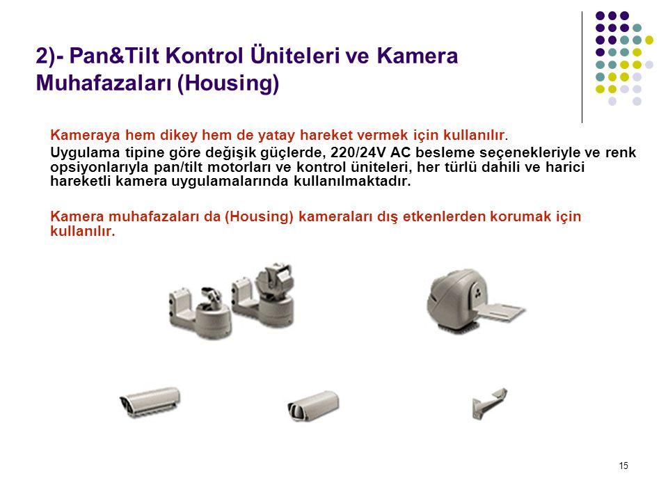2)- Pan&Tilt Kontrol Üniteleri ve Kamera Muhafazaları (Housing)