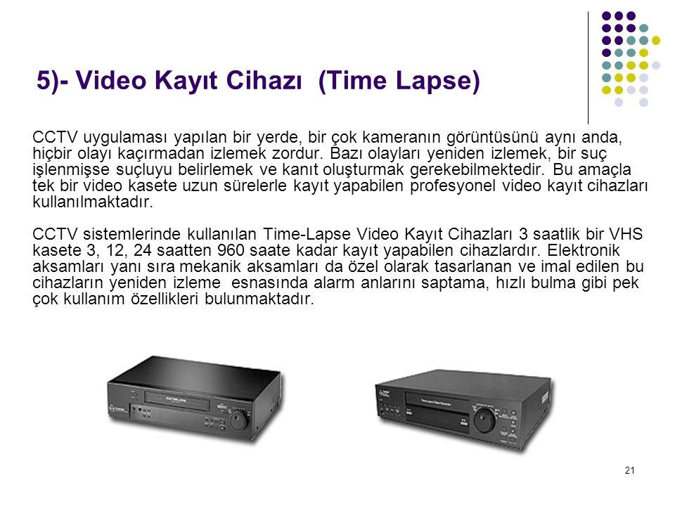 5)- Video Kayıt Cihazı (Time Lapse)