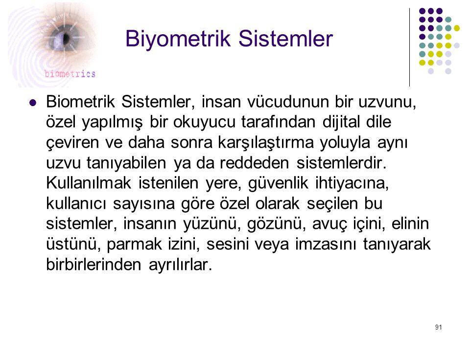 Biyometrik Sistemler