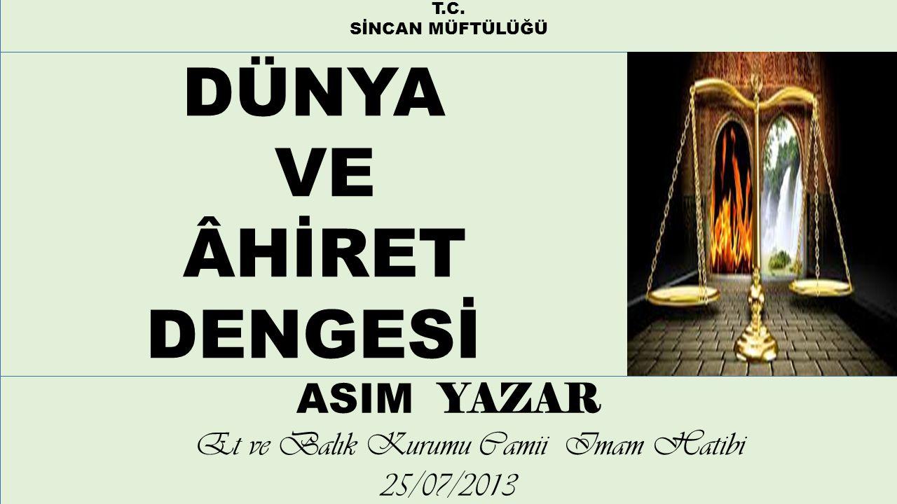 Et ve Balık Kurumu Camii Imam Hatibi 25/07/2013