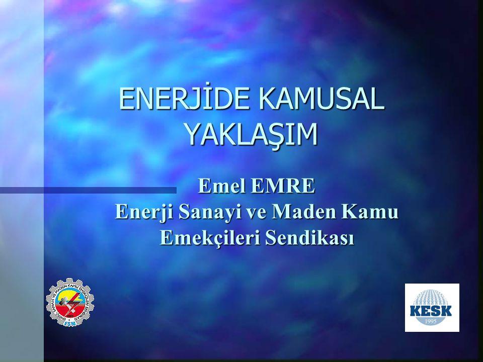 ENERJİDE KAMUSAL YAKLAŞIM