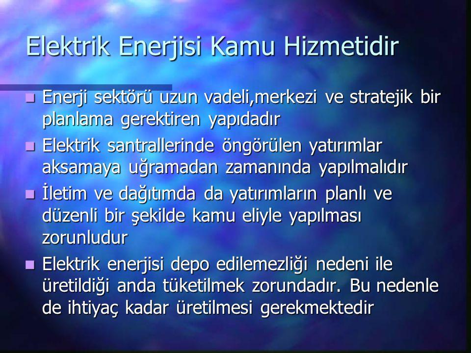 Elektrik Enerjisi Kamu Hizmetidir