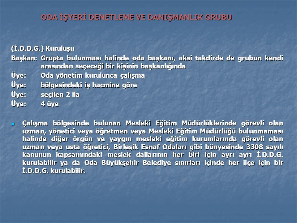 ODA İŞYERİ DENETLEME VE DANIŞMANLIK GRUBU
