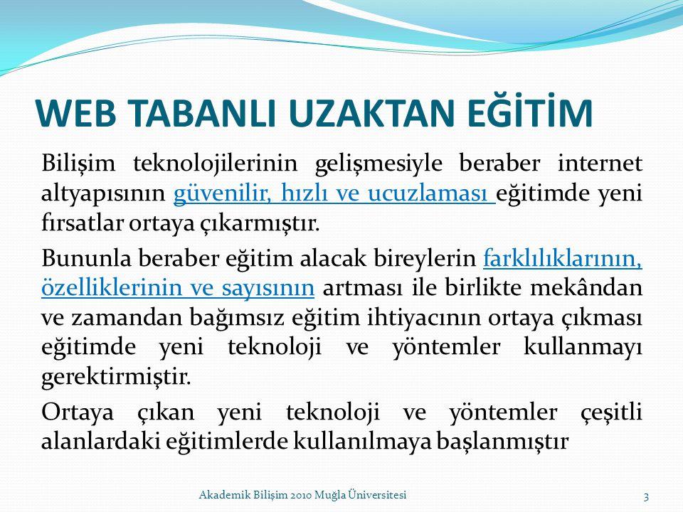 WEB TABANLI UZAKTAN EĞİTİM