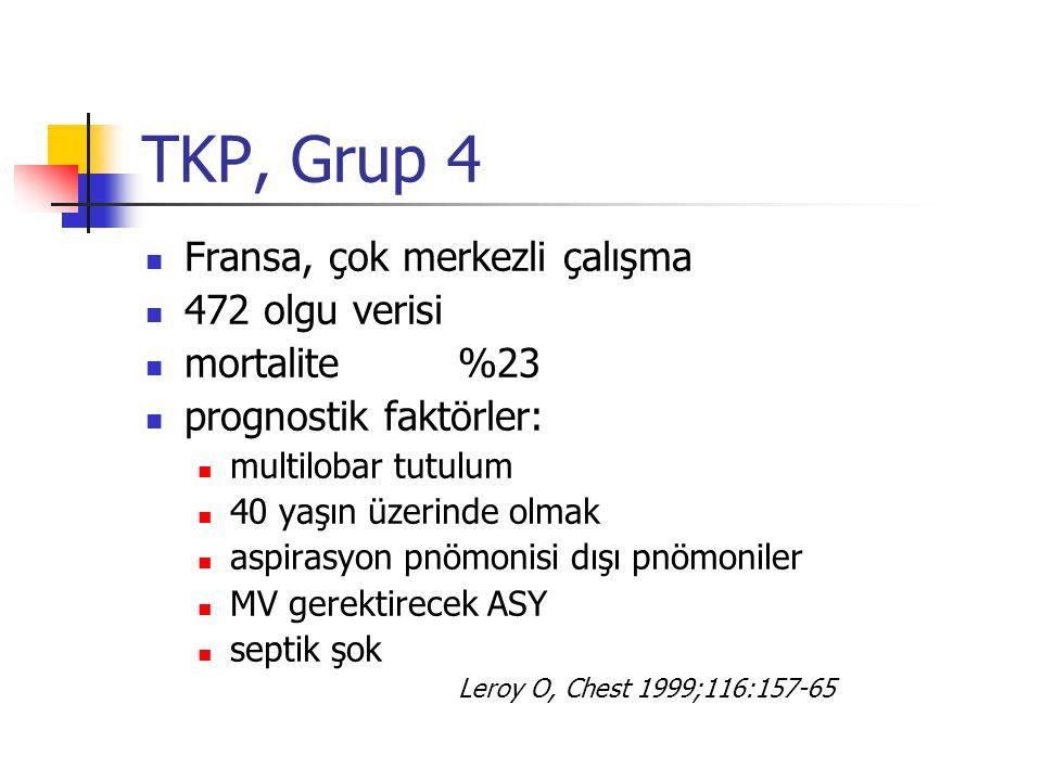 TKP, Grup 4 Fransa, çok merkezli çalışma 472 olgu verisi mortalite %23