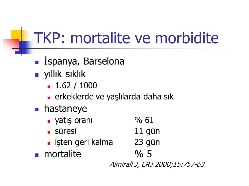 TKP: mortalite ve morbidite