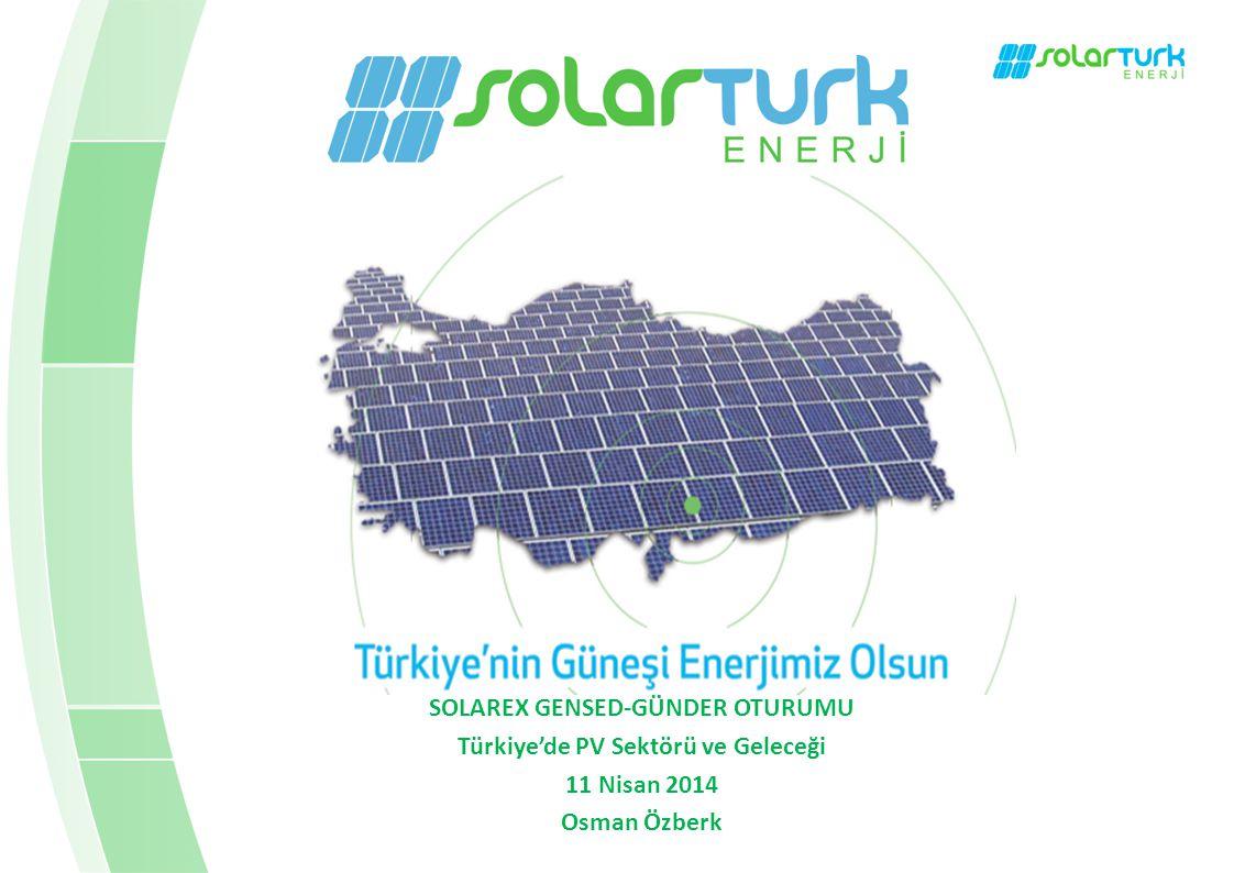 SOLAREX GENSED-GÜNDER OTURUMU Türkiye'de PV Sektörü ve Geleceği