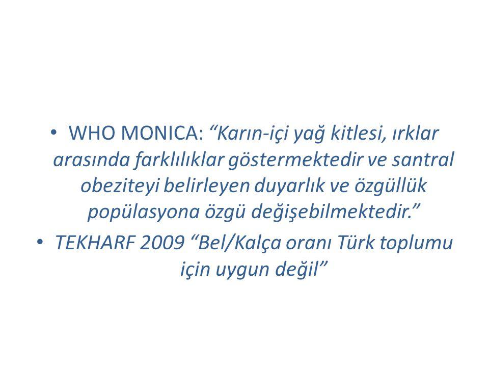 TEKHARF 2009 Bel/Kalça oranı Türk toplumu için uygun değil