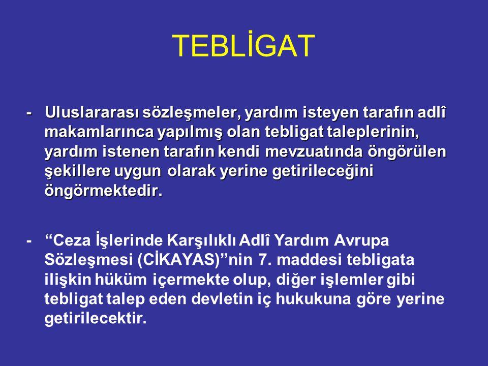 TEBLİGAT