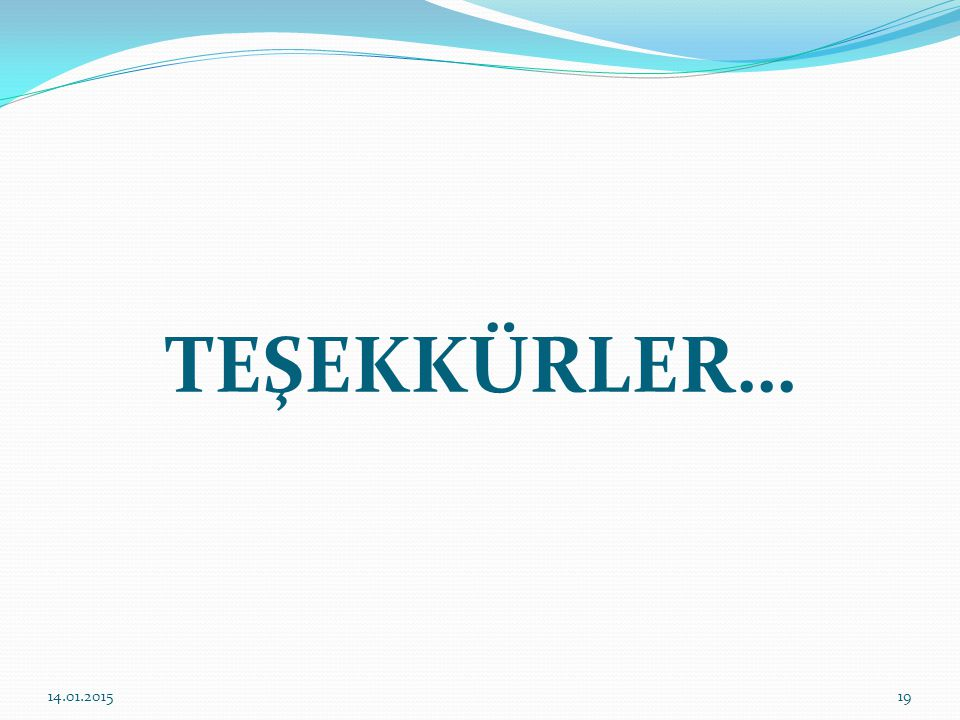 TEŞEKKÜRLER… 08.04.2017