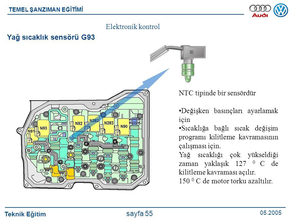 NTC tipinde bir sensördür Değişken basınçları ayarlamak için
