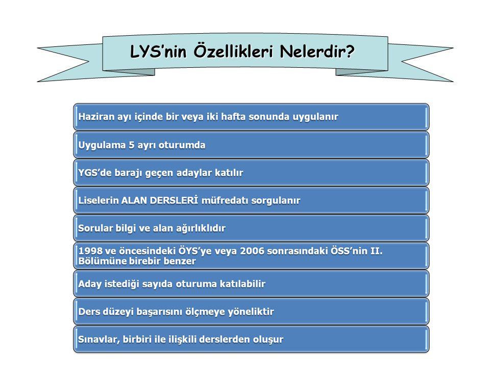 LYS'nin Özellikleri Nelerdir