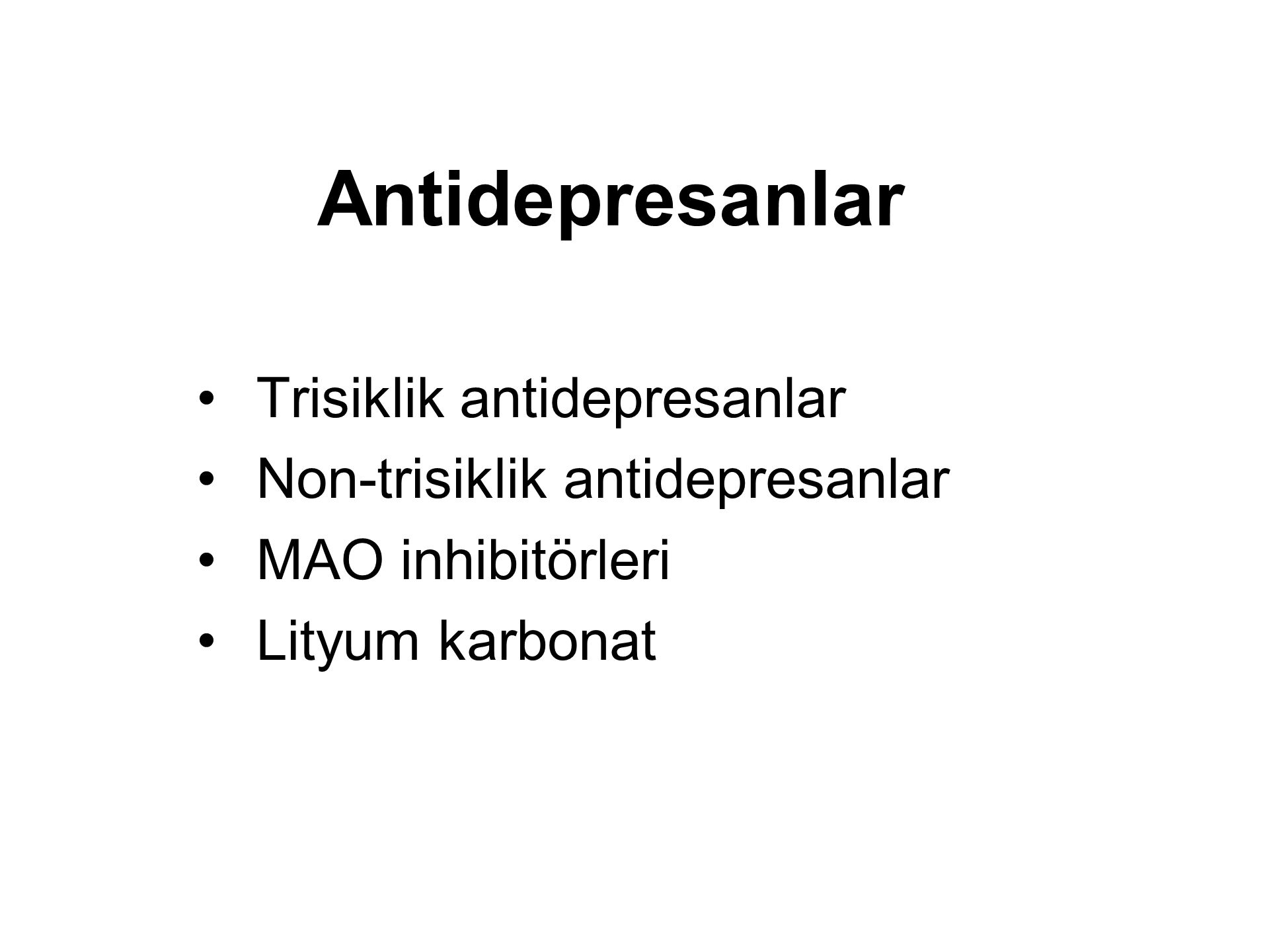 Antidepresanlar Trisiklik antidepresanlar