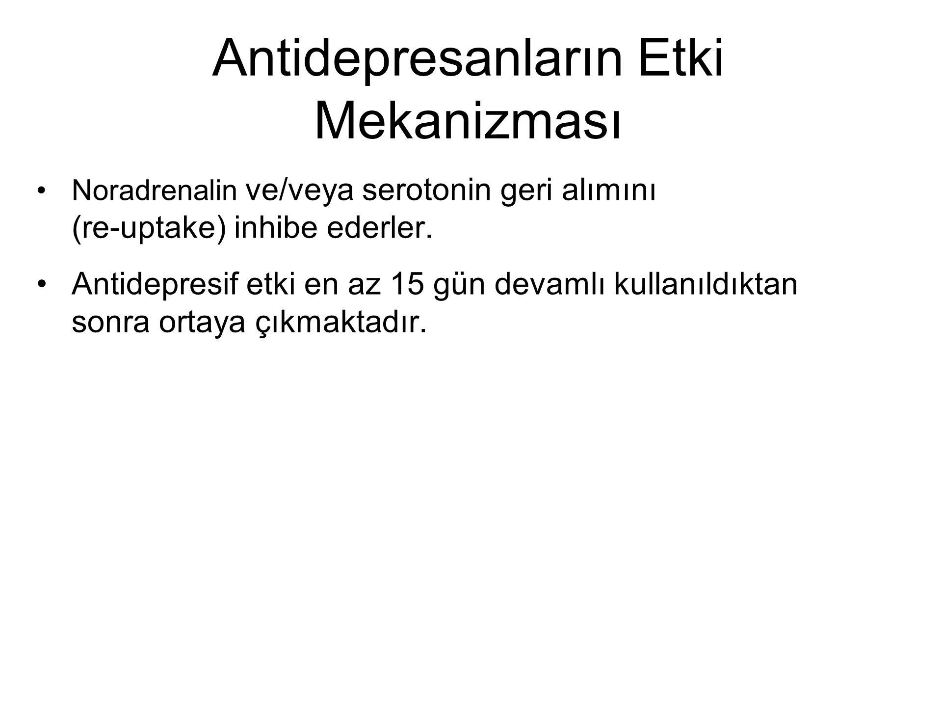 Antidepresanların Etki Mekanizması