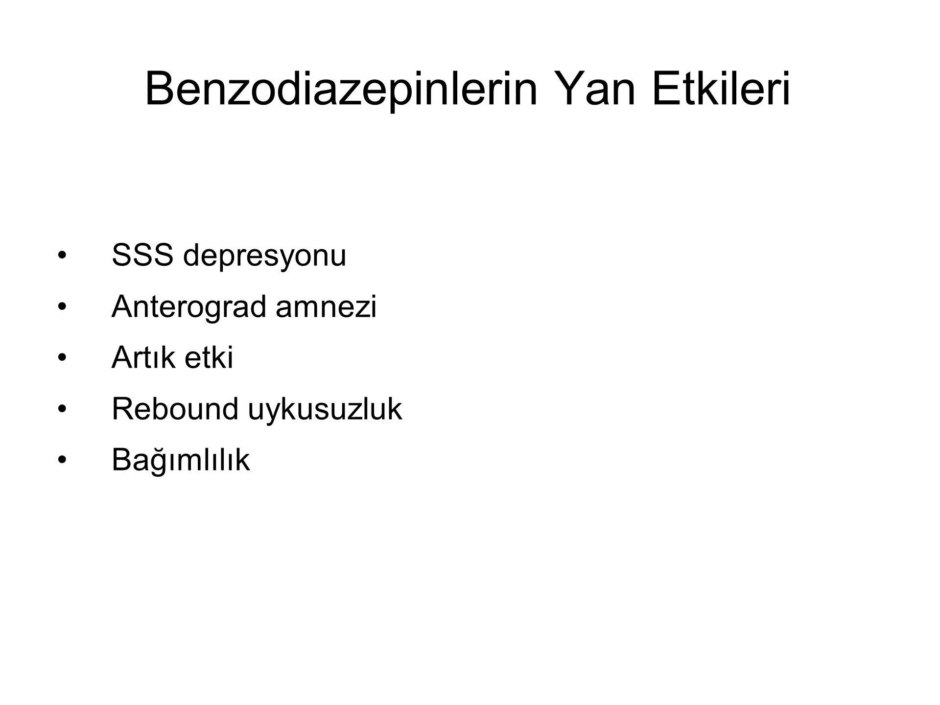 Benzodiazepinlerin Yan Etkileri
