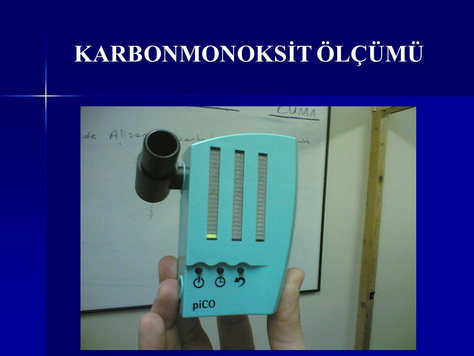 KARBONMONOKSİT ÖLÇÜMÜ