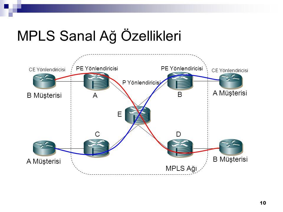 MPLS Sanal Ağ Özellikleri