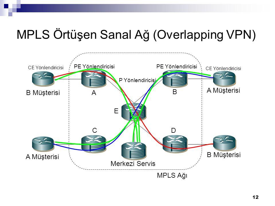 MPLS Örtüşen Sanal Ağ (Overlapping VPN)