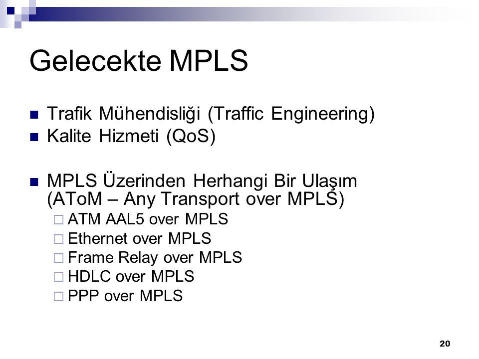 Gelecekte MPLS Trafik Mühendisliği (Traffic Engineering)