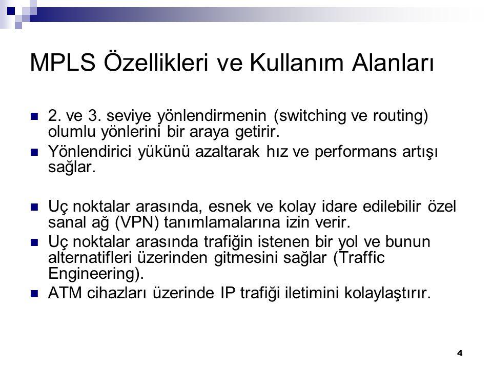 MPLS Özellikleri ve Kullanım Alanları