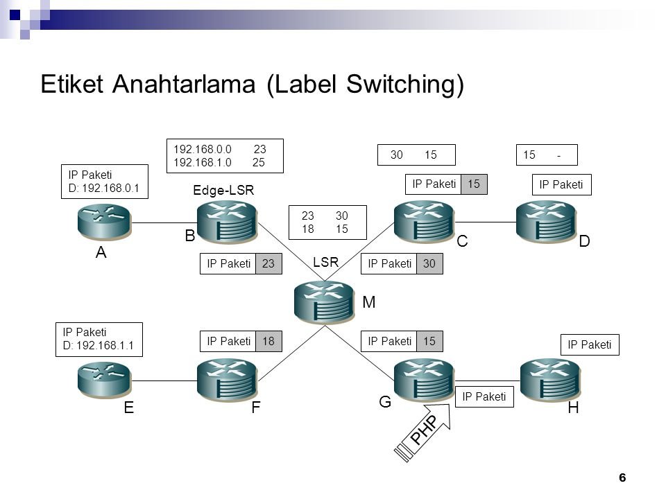 Etiket Anahtarlama (Label Switching)