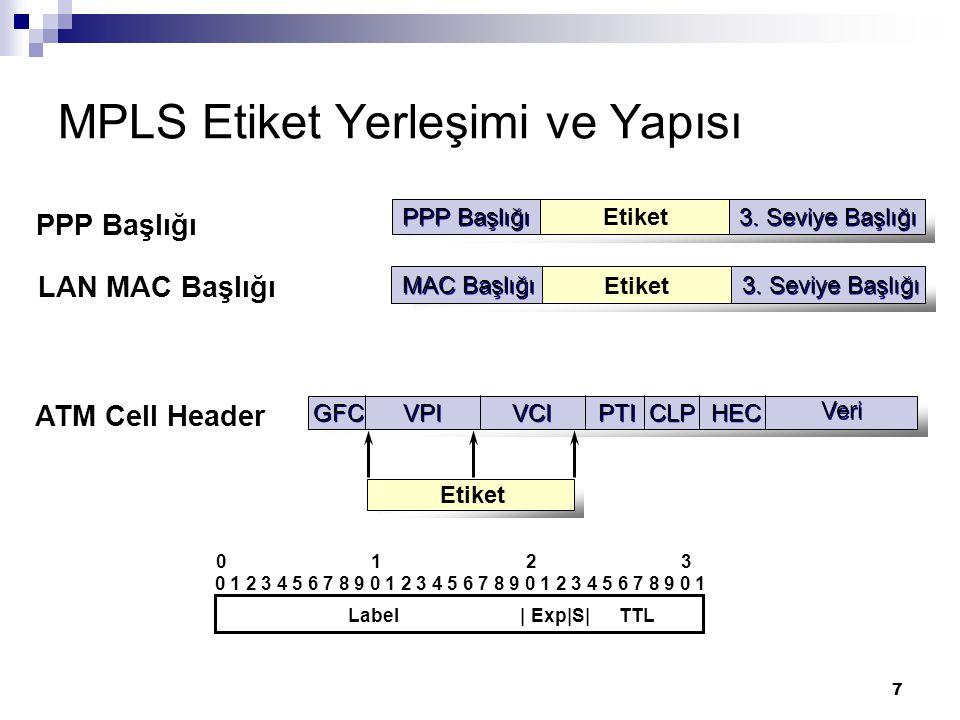 MPLS Etiket Yerleşimi ve Yapısı