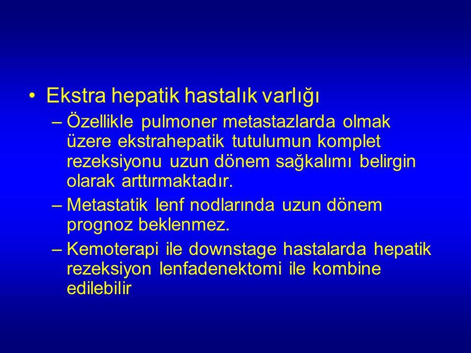 Ekstra hepatik hastalık varlığı