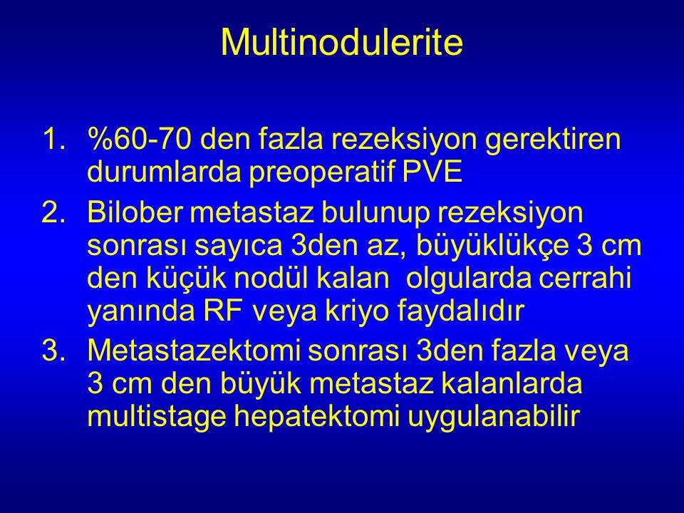 Multinodulerite %60-70 den fazla rezeksiyon gerektiren durumlarda preoperatif PVE.