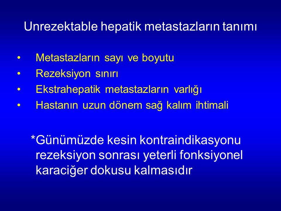 Unrezektable hepatik metastazların tanımı