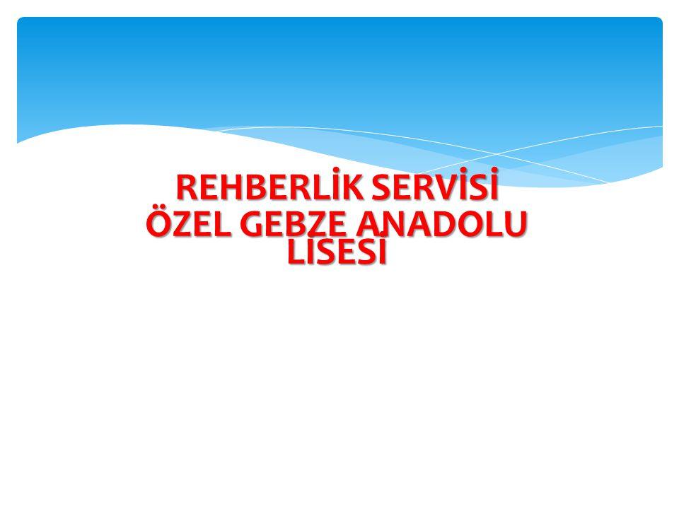 REHBERLİK SERVİSİ ÖZEL GEBZE ANADOLU LİSESİ