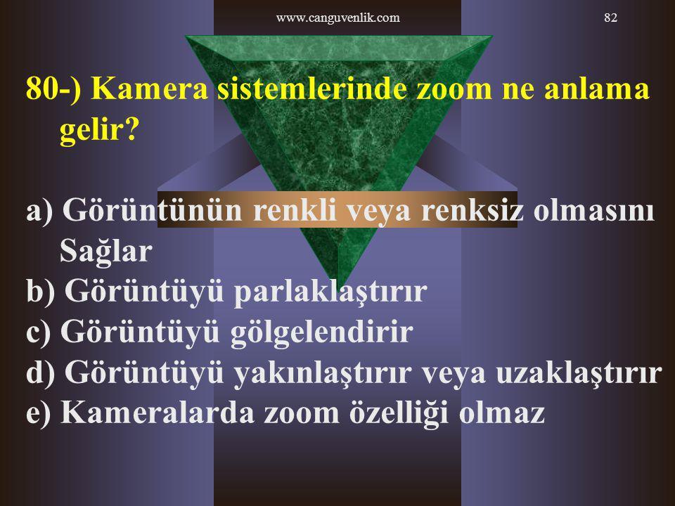 80-) Kamera sistemlerinde zoom ne anlama gelir