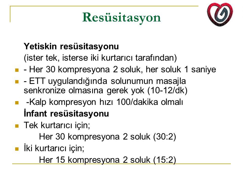 Resüsitasyon Yetiskin resüsitasyonu