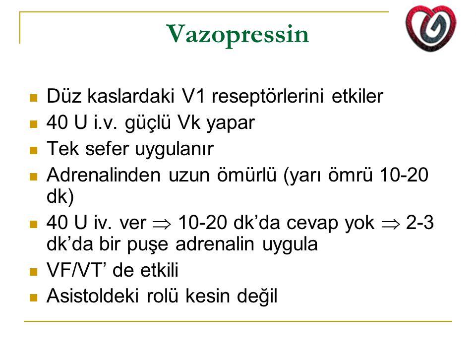 Vazopressin Düz kaslardaki V1 reseptörlerini etkiler