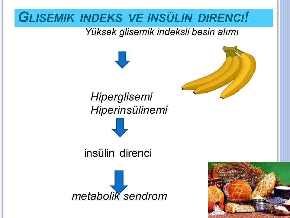 Glisemik indeks ve insülin direnci!