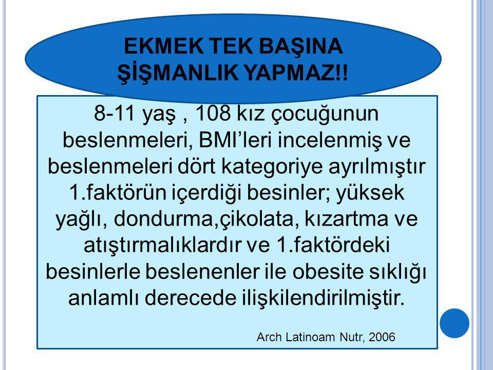 EKMEK TEK BAŞINA ŞİŞMANLIK YAPMAZ!!