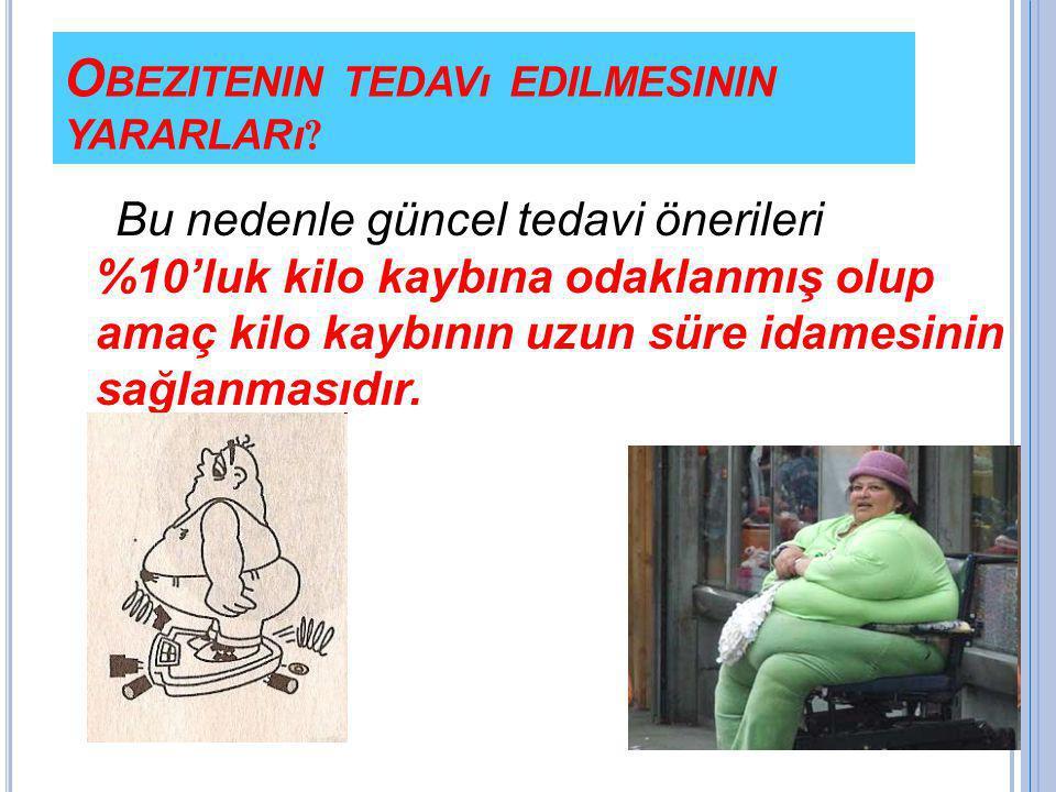 Obezitenin tedavı edilmesinin yararları