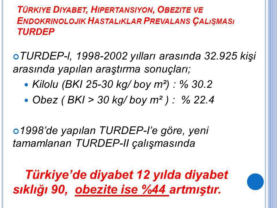Kilolu (BKI 25-30 kg/ boy m²) : % 30.2