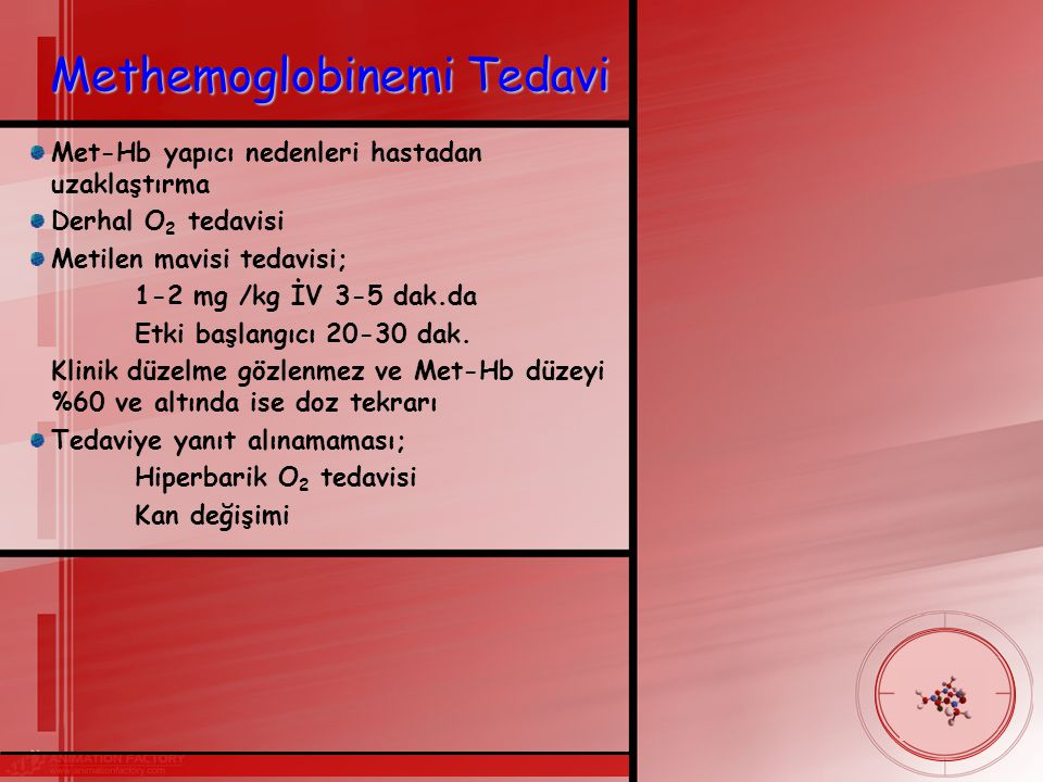 Methemoglobinemi Tedavi