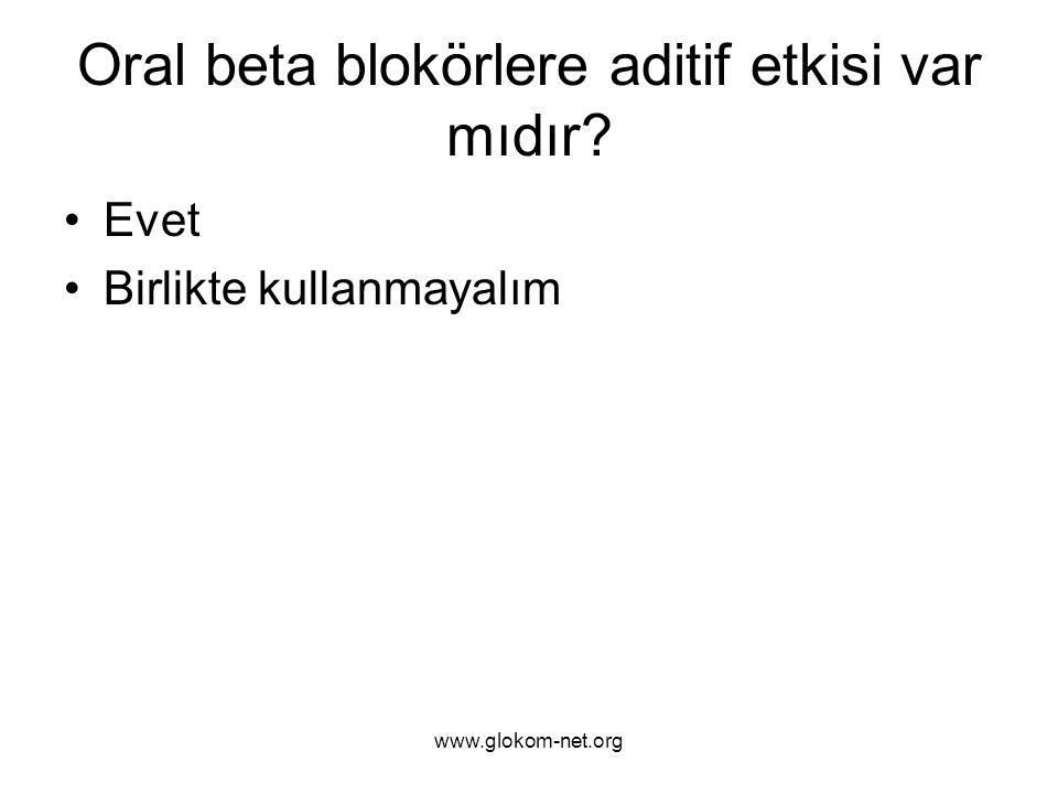 Oral beta blokörlere aditif etkisi var mıdır