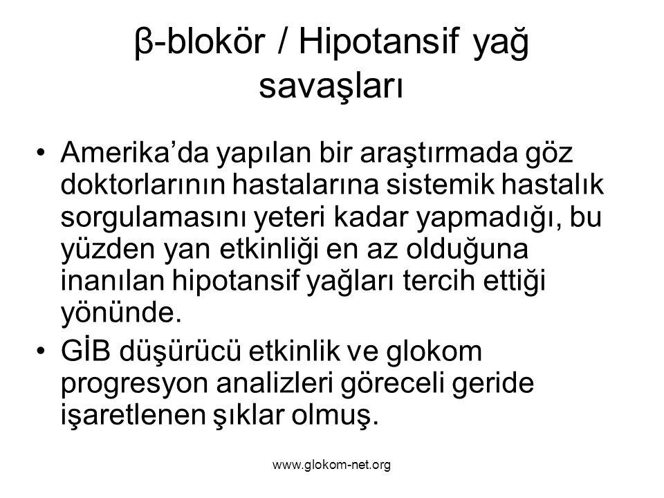 β-blokör / Hipotansif yağ savaşları