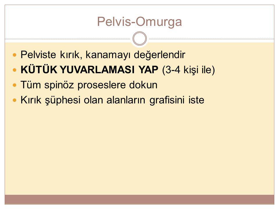 Pelvis-Omurga Pelviste kırık, kanamayı değerlendir