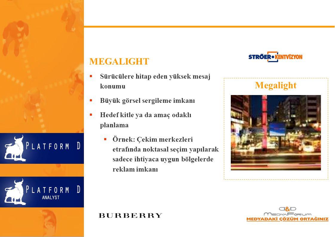 MEGALIGHT Megalight Sürücülere hitap eden yüksek mesaj konumu