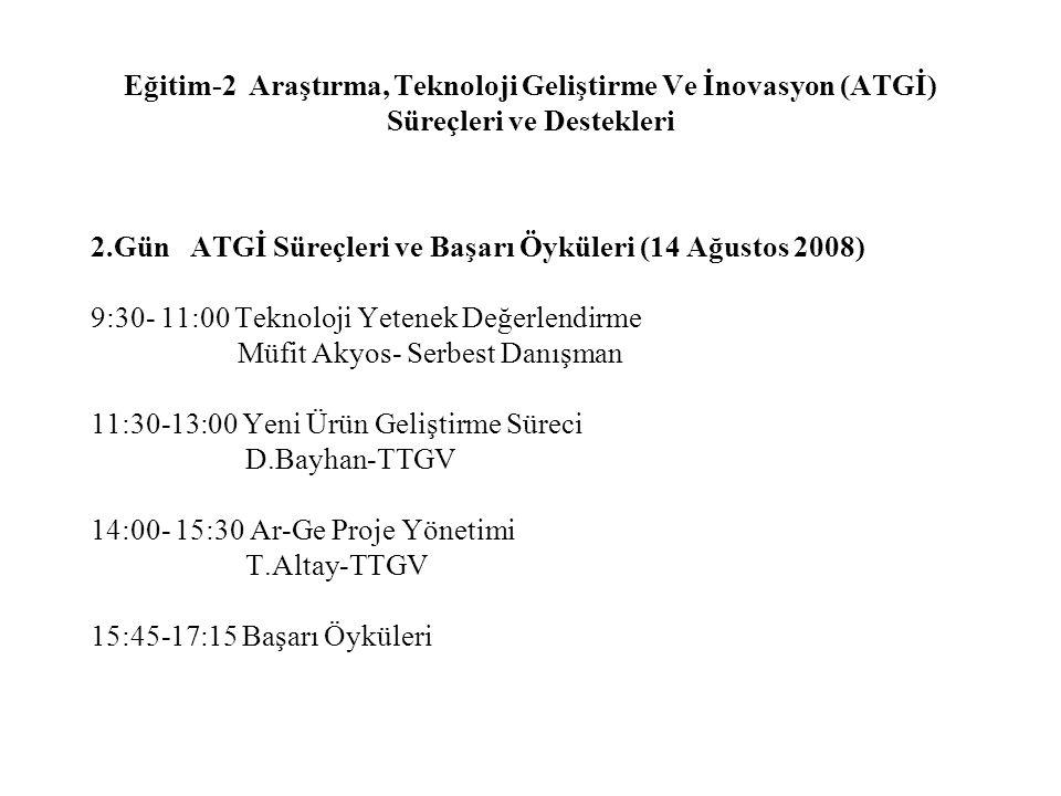 Eğitim-2 Araştırma, Teknoloji Geliştirme Ve İnovasyon (ATGİ) Süreçleri ve Destekleri