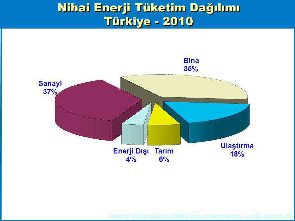 Nihai Enerji Tüketim Dağılımı
