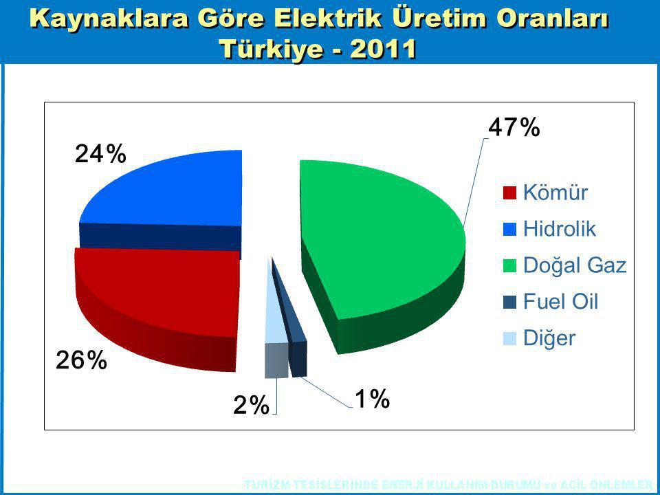 Kaynaklara Göre Elektrik Üretim Oranları