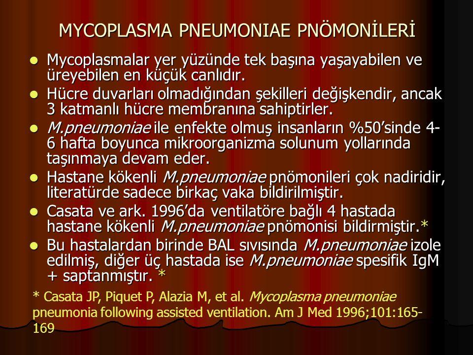 MYCOPLASMA PNEUMONIAE PNÖMONİLERİ