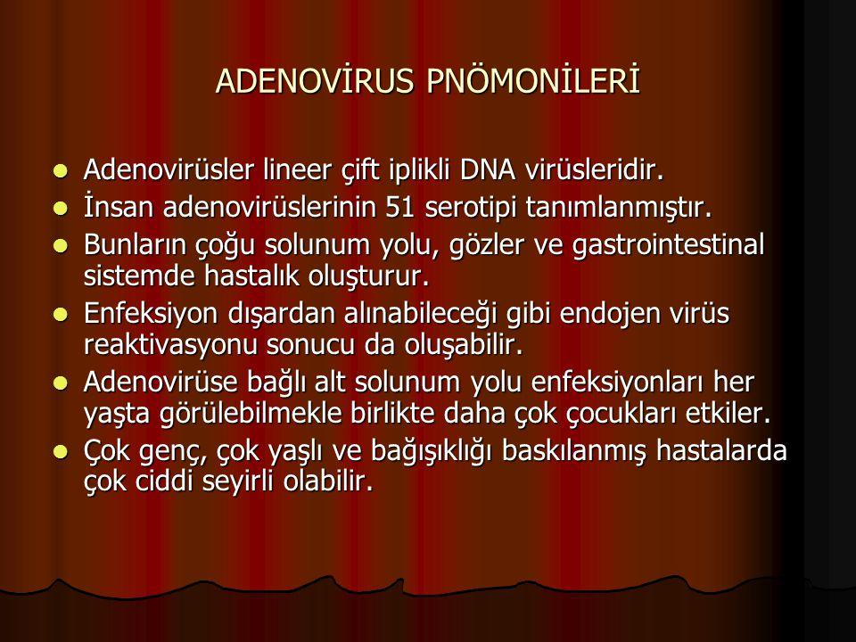ADENOVİRUS PNÖMONİLERİ