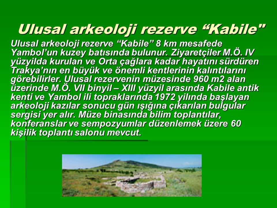 Ulusal arkeoloji rezerve Kabile